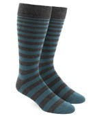 Men's Socks - Ombre Stripe - Teal