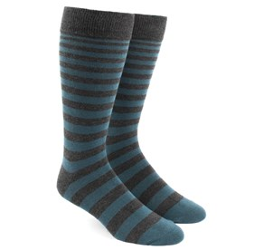 Ombre Stripe Teal Men's Socks