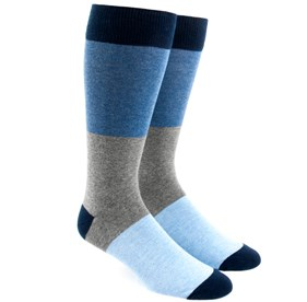 Colorblock Blues Men's Socks