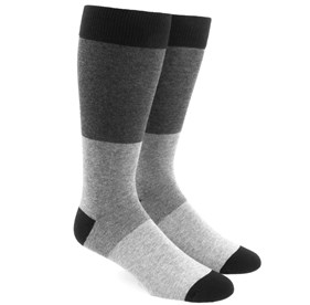 Grey Colorblock mens socks