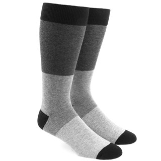 Colorblock Grey Dress Socks