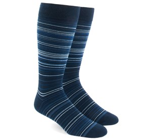 Multistripe Blues Men's Socks