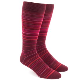 Multistripe Reds Men's Socks