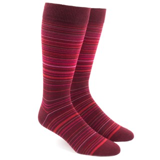 multistripe reds dress socks