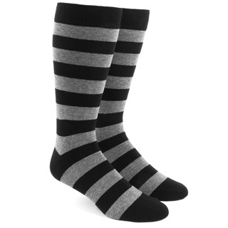 super stripe black dress socks