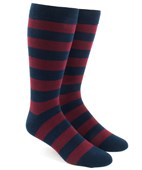 Men's Socks - Super Stripe - Burgundy