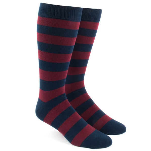 Burgundy Super Stripe Socks