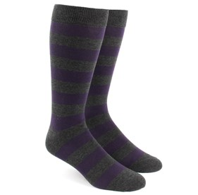 Charcoal Super Stripe mens socks