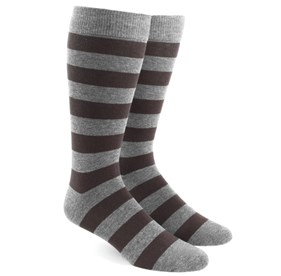 Brown Super Stripe mens socks