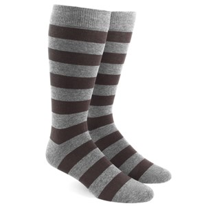 super stripe brown dress socks