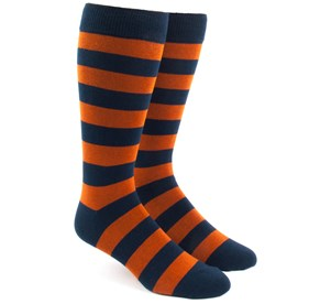 Orange Super Stripe mens socks