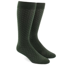 Hunter Green Speckled mens socks