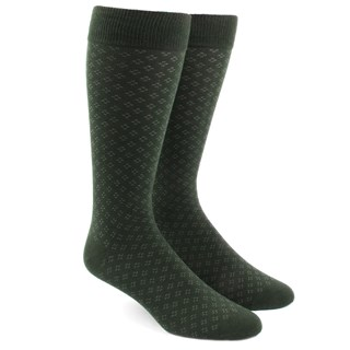 speckled hunter green dress socks