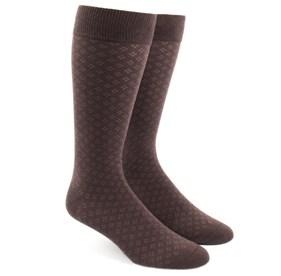 Brown Speckled mens socks