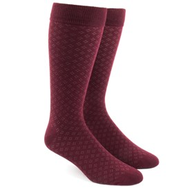Burgundy Speckled mens socks