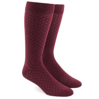 Speckled Burgundy Dress Socks