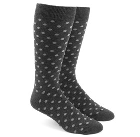 Charcoal Circuit Dots mens socks