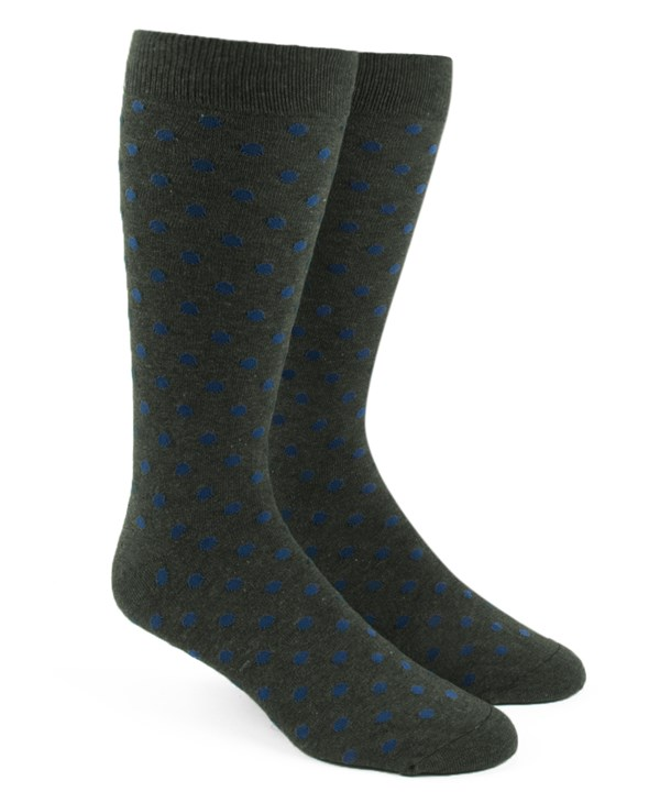 Circuit Dots Army Green Dress Socks
