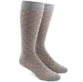 Circuit Dots Orange Men's Socks