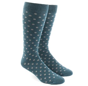 Teal Circuit Dots mens socks