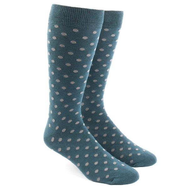 Teal Circuit Dots Socks