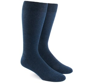Solid Texture Navy Men's Socks
