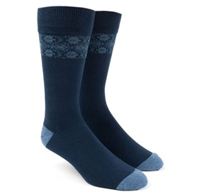 Southwest Panel Blue Men's Socks