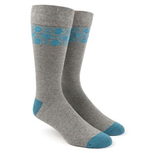 southwest panel washed teal dress socks