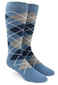 Men's Socks - Argyle - Blue