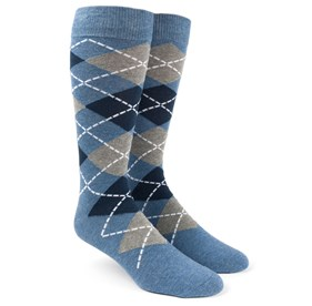 Blue Argyle mens socks