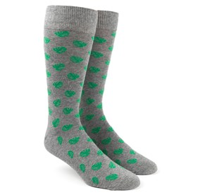 Grey Banana Leaf mens socks