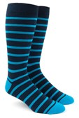 Men's Socks - Trad Stripe - Turquoise