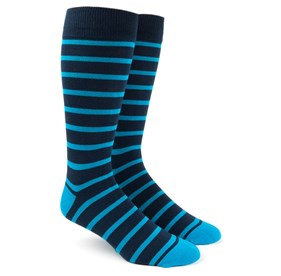 Trad Stripe Turquoise Men's Socks