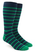 Men's Socks - Trad Stripe - Kelly Green