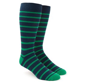 Kelly Green Trad Stripe mens socks