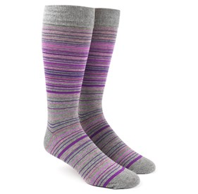 Multistripe Purples Men's Socks