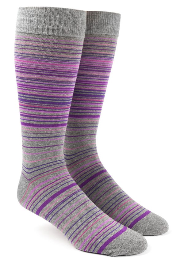 Multistripe Purples Socks