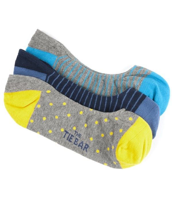 The Grey No-Show Sock Pack Socks