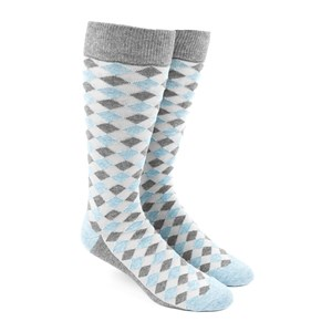 textured diamonds light blue dress socks