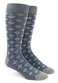 Men's Socks - Textured Diamonds - Blues