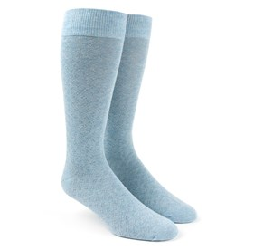 Light Blue Speckled mens socks