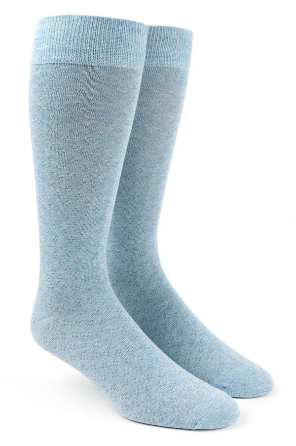 Speckled Light Blue Socks