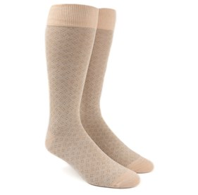 Khaki Speckled mens socks
