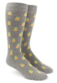 Men's Socks - Pineapple - Grey