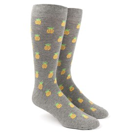 Pineapple Grey Men's Socks