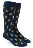 Men's Socks - Pineapple - Navy