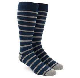 Classic Navy Trad Stripe mens socks