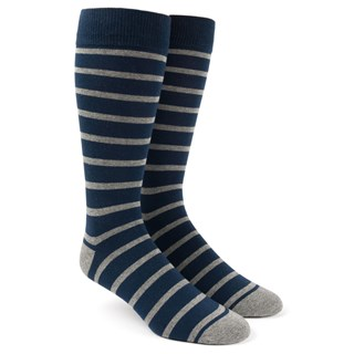 trad stripe classic navy dress socks