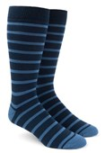 Men's Socks - TRAD STRIPE - LIGHT BLUE