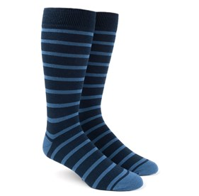 Light Blue Trad Stripe mens socks